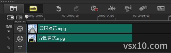 会声会影x10复制视频到覆叠轨