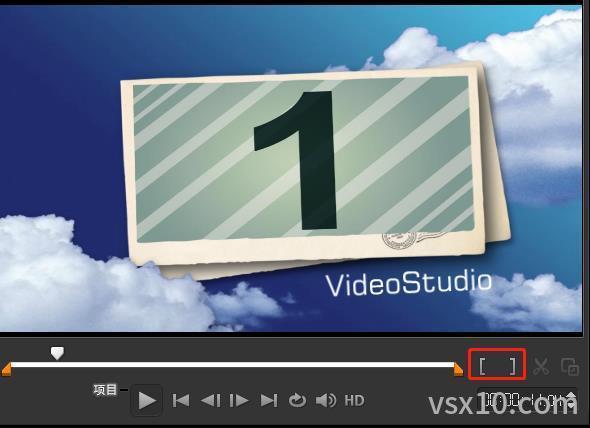 会声会影x10共享界面的导览面板