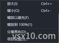 camtasia 2019画布缩放快捷菜单