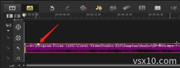会声会影x10混音器添加关键帧点