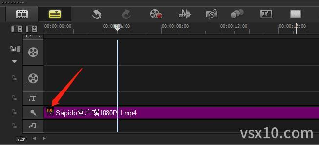 会声会影声音轨素材已添加音频滤镜