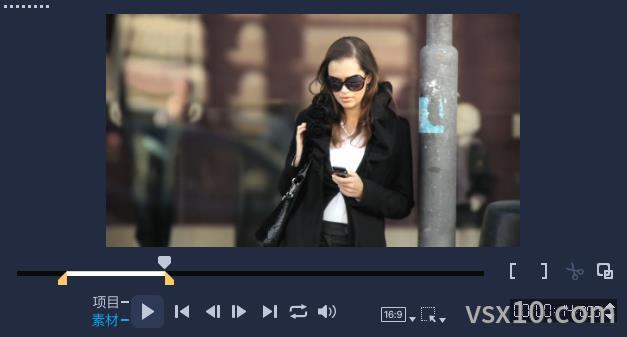开始标记和结束标记截取视频片段