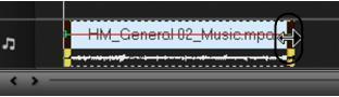 会声会影x2延长或缩短音频素材的时间