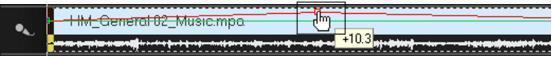 会声会影x2音量调节线上拖动关键帧