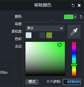 camtasia移除颜色色谱
