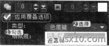 会声会影x3应用覆叠选项色度键