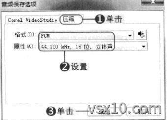 会声会影x3音频保存选项