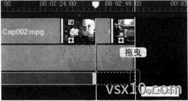 会声会影x3调整标题显示区间
