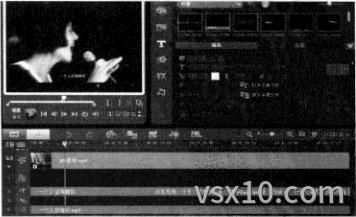 会声会影x3标题轨上已经添加字幕