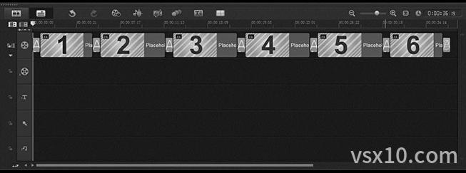 插入当中项目模板至视频轨