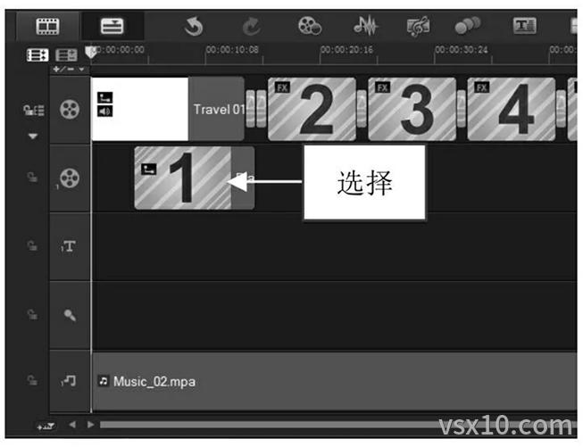 会声会影x9删除选择的素材文件