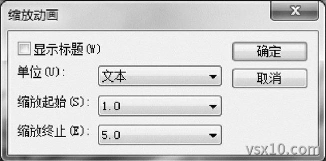 缩放动画对话框